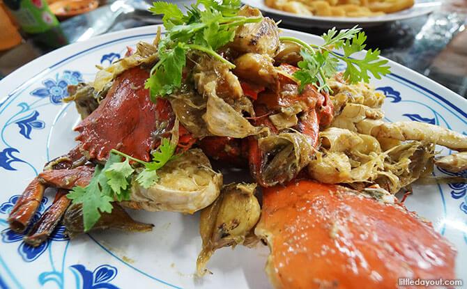 Garlic Baked Crab