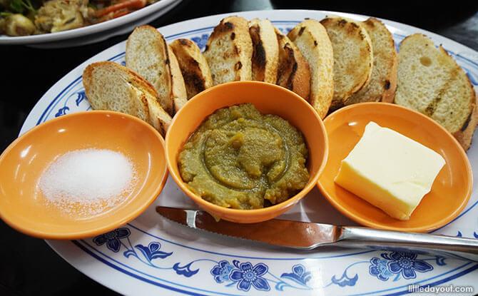 Fresh Kaya On Toasted Baguette