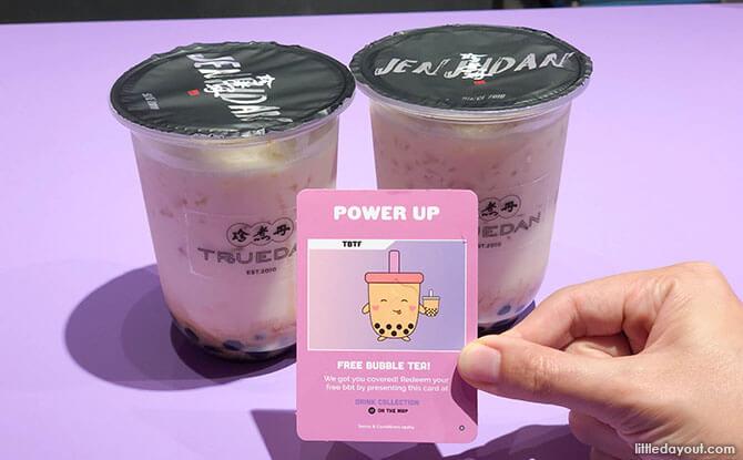 Collect free bubble tea