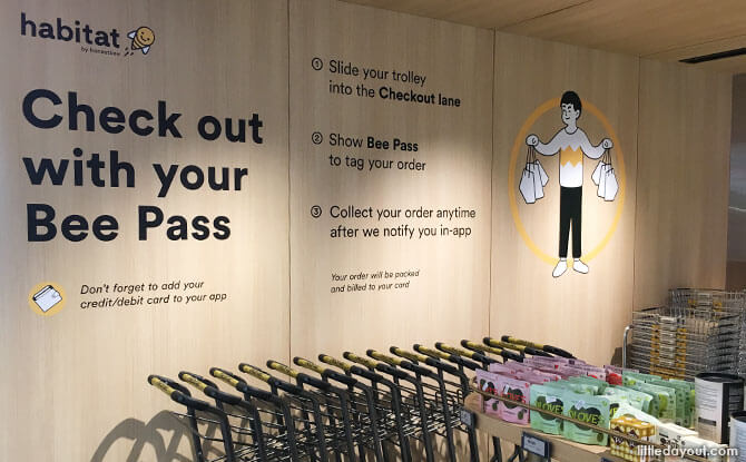 AutoCheckOut at habitat by honestbee