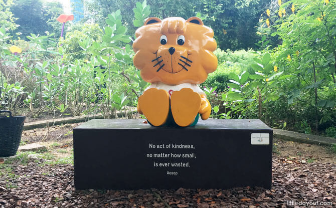 Singa Bench at HortPark