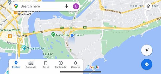 Location of the Marina East Desalination Plant