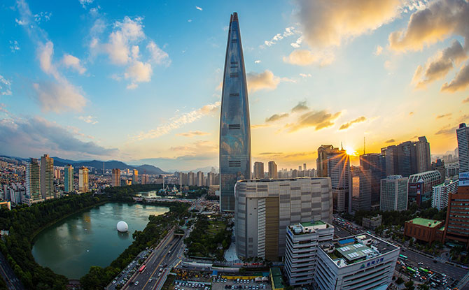 Lotte World Tower - the tallest building in South Korea