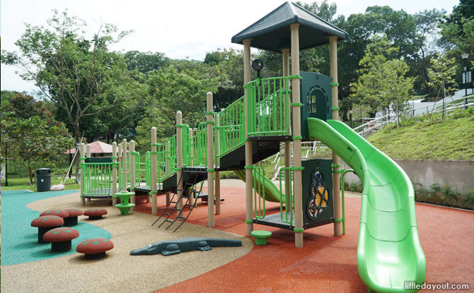 Play structure at Musical Playground