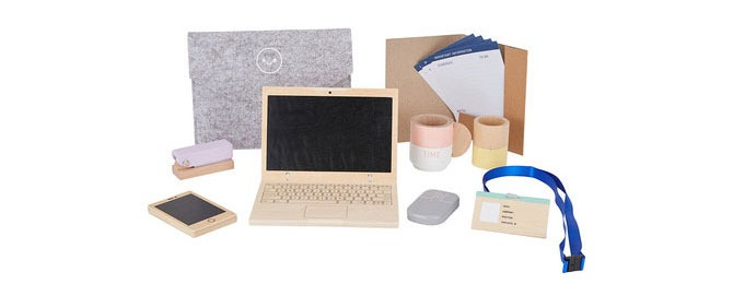 wooden work from home set