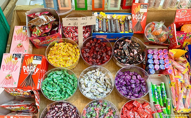 Sweets at the National Museum of Singapore mama shop