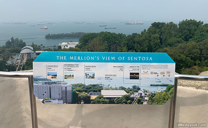 View from the top of the Sentosa Merlion