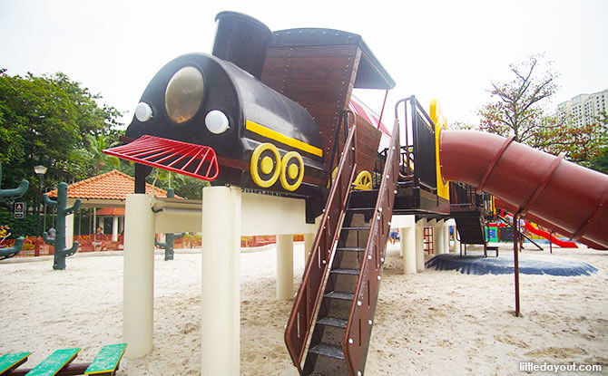 Tiong Bahru Park Playground Revamped: Tilting Train Adventures In 2018