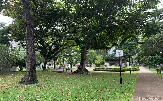Katong Park: The Buried Fort, The Rainbow Tree & Playground