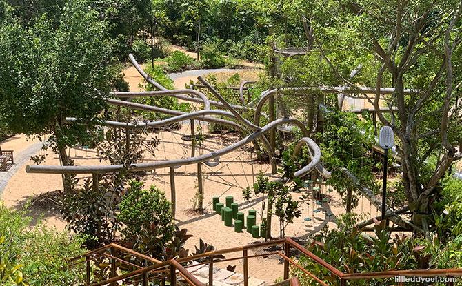 Overview of COMO Adventure Grove playgarden
