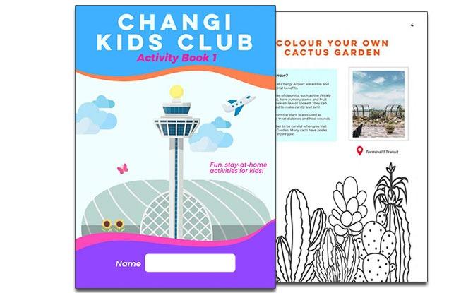 Changi Kids Club activity book