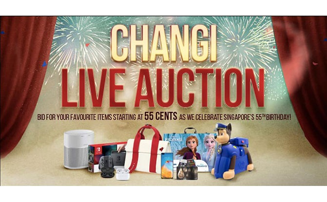 Changi Airport Live Auction On 4 August: AirPods, Nintendo Switch And More Up For Grabs