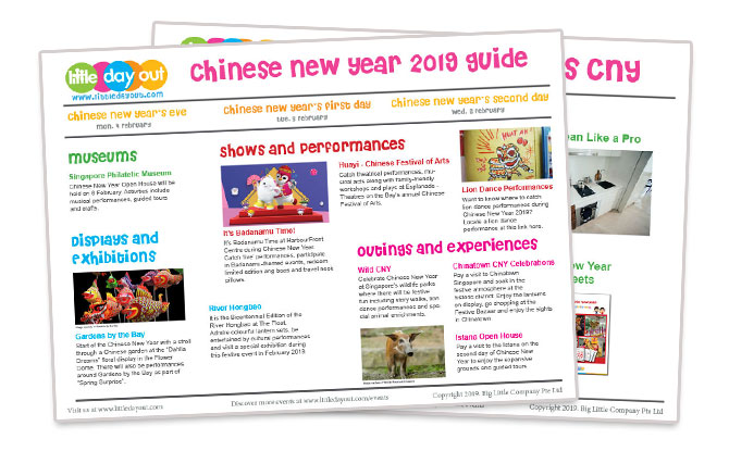 Little Day Out's Guide to Chinese New Year 2019