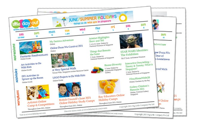 Little Day Out's Guide To The June School Holidays 2021 In Singapore