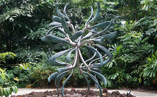 Sculpture at the Entrance to The Rain Forest, Singapore Botanic Gardens