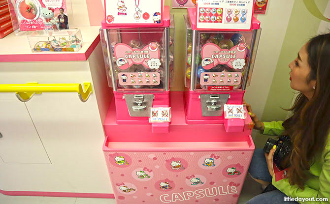 Hello Kitty Merchandise on the JR Train