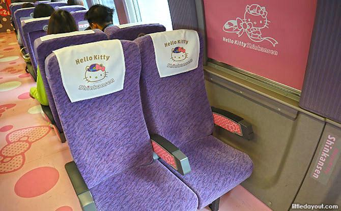 Interior of the Hello Kitty Shinkansen Train, Japan