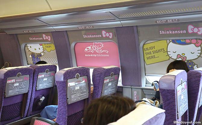 Hello Kitty Shinkansen Interior