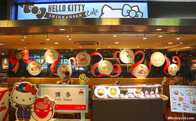 Hello Kitty Shinkansen Café in Hakata Station