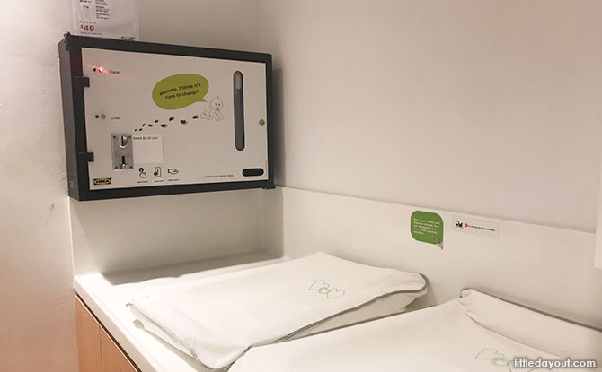 Diaper Changing Room at Ikea Tampines