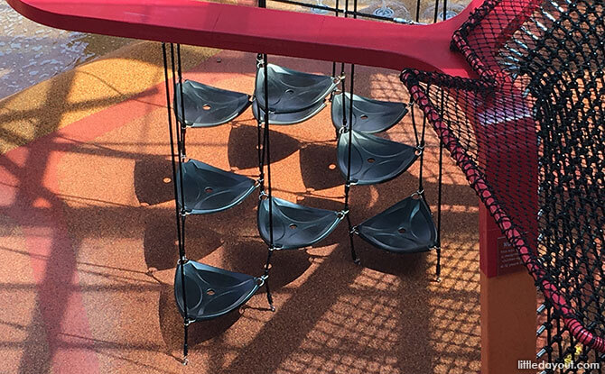 Seats and Climbing Structure at Jem Play Playground