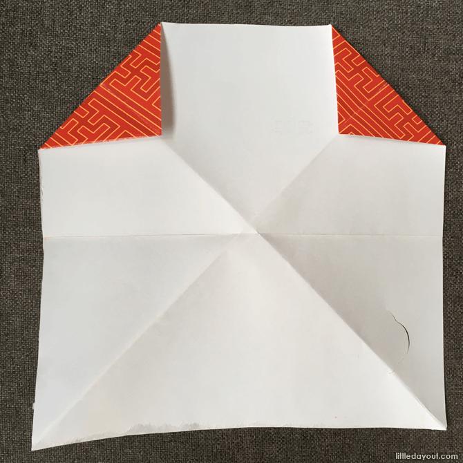 Folding the dog origami