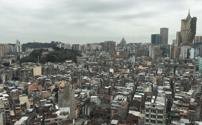 The view of the old town of Macau Peninsula from our hotel room. Full of old-world charm.