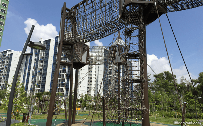 Tampines Green Forest Park Climbing Playground
