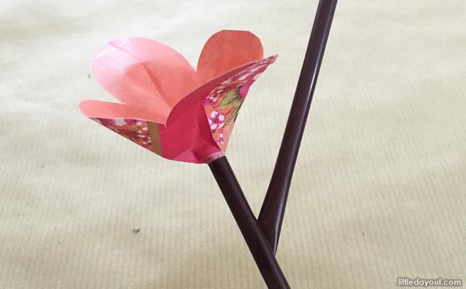 Inserting the flower