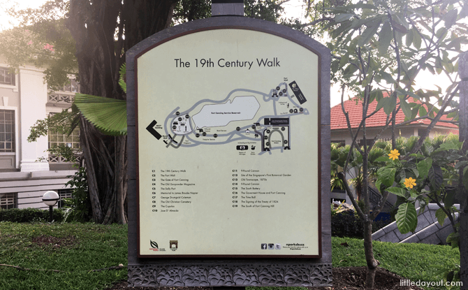 19th Century Walk - History Trail, Fort Canning Park