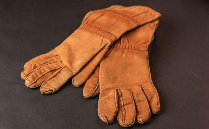 Pilot Gloves of Antoine de Saint Exupéry