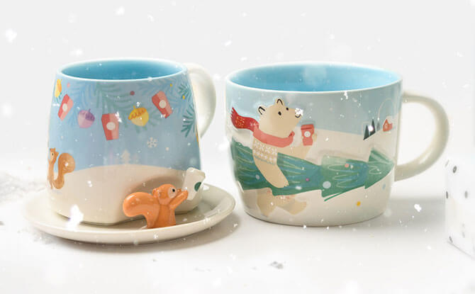 Festive Mugs at Starbucks