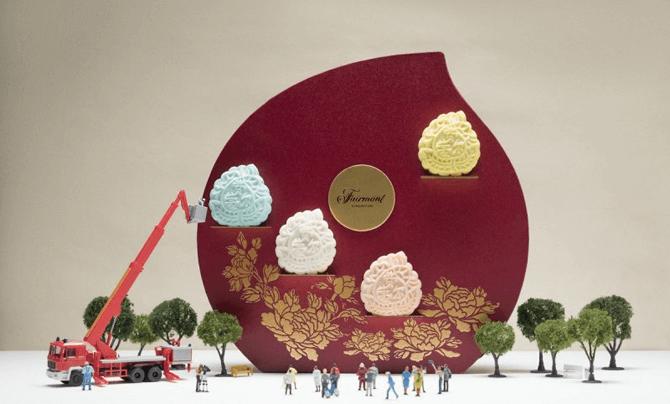 Assorted Mini Snowskin Mooncakes from Fairmont Singapore. Photo credit: Fairmont Singapore