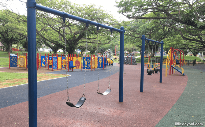 Swings at Pasir Ris Park Playground