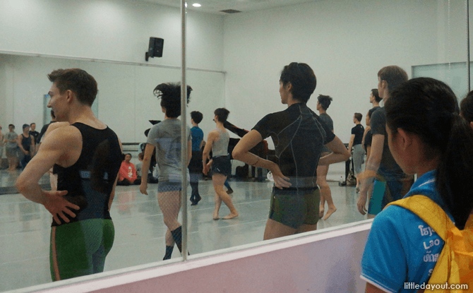 The dancers typically start their day at 10am with a warm-up in the studio.