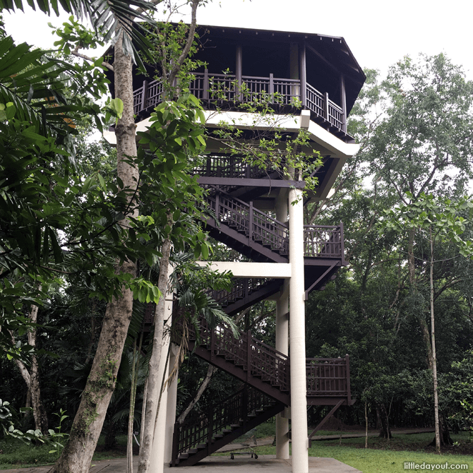 Bird watching tower at Pasir Ris Park