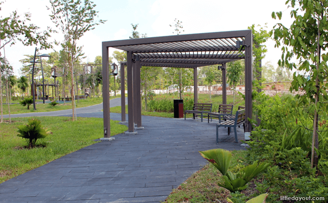 Green spaces at Tampines Green Forest Park