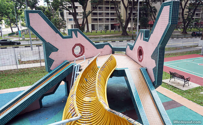 View from the back of the Ang Mo Kio Avenue 3 Dragon Playground