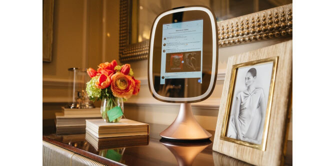 Fred Technology's smart vanity mirror