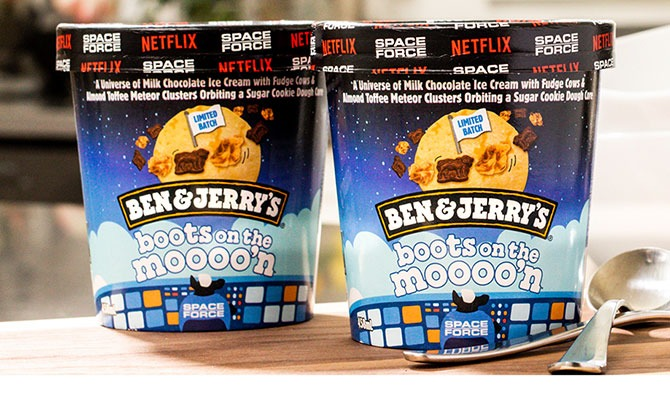 Ben & Jerry's Launches A New Netflix Flavour: Boots On The Moooo'n