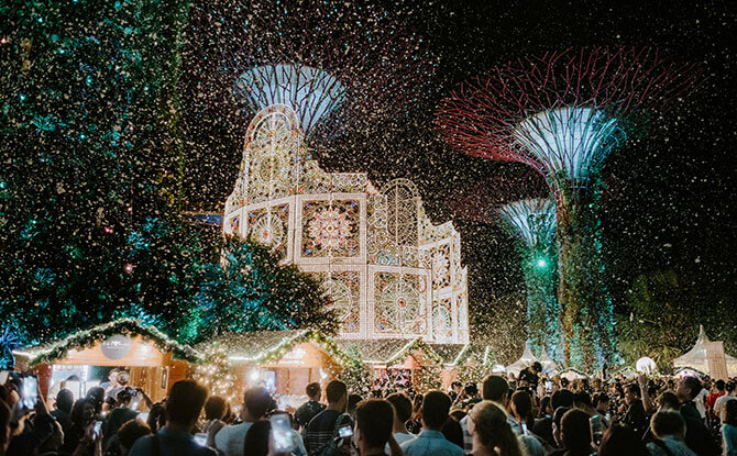 Blizzard Time at Christmas Wonderland - Snow in Singapore 2019