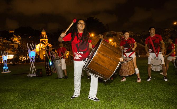 Bloco Singapura at the Singapore Night Festival 2014