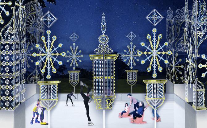 Outdoor Skating Rink at Christmas Wonderland 2017