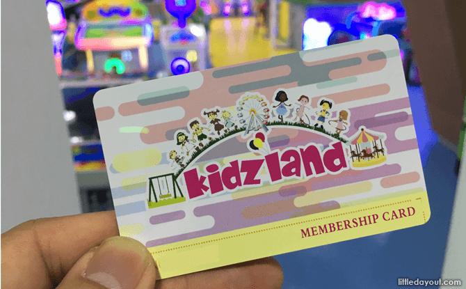 Top Up Card at Kidzland