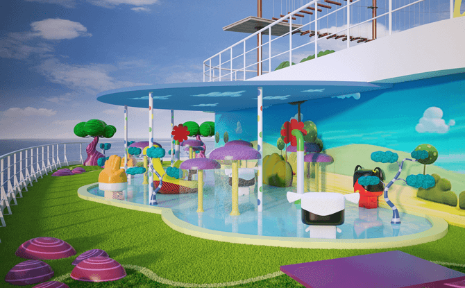 Artist impression of the Toonix Pool on Cartoon Network Wave. All illustrations are subject to change without prior notice.