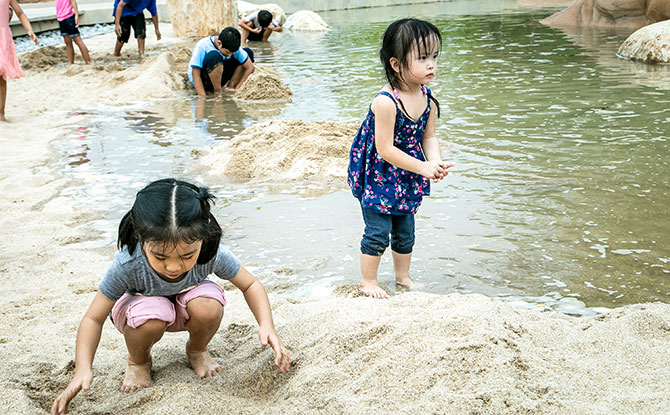 Sand play at Clusia Cove, Jurong Lake Gardens