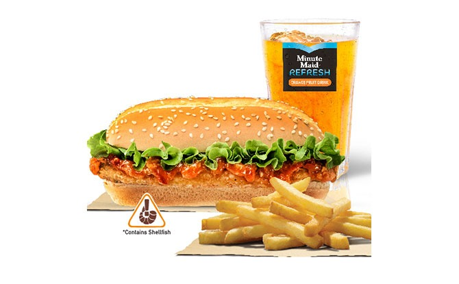 Burger King Chilli Crab Long Chicken Burger