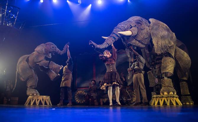 Circus 1903 Elephants