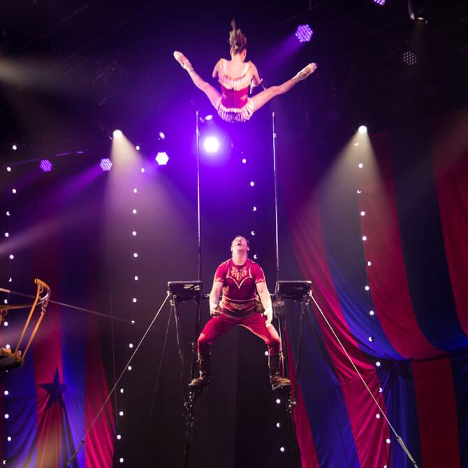 Gravity-defying acrobatics, Circus 1903