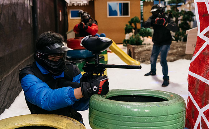 Winter Shooting Arena: Have A Paint Ball Battle At Snow City